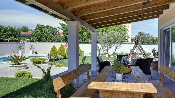 Modern villa in Medulin, with swimming pool, gym and Wi-Fi, 9