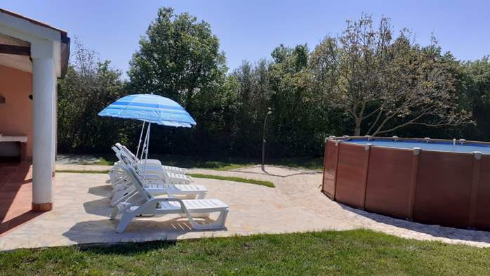 Pet friendly house with pool with sea water, volleyball, Wi-fi, 9
