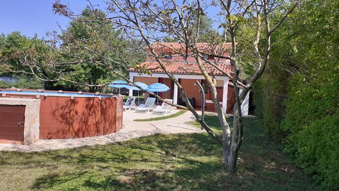 Pet friendly house with pool with sea water, volleyball, Wi-fi, 1