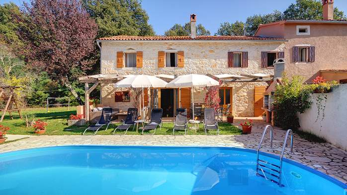 Villa on 2 floors, with pool and terrace in central Istria, 6