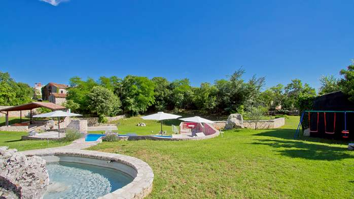 Villa with pool, terrace and playground for kids, close to Labin, 6