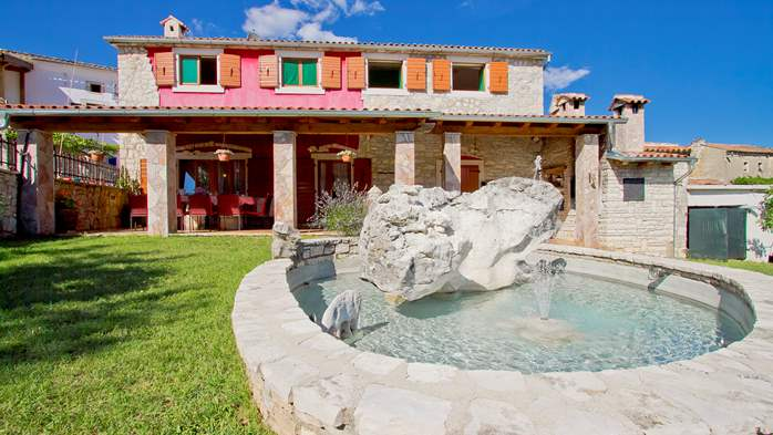 Villa with pool, terrace and playground for kids, close to Labin, 5