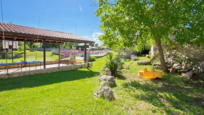 Villa with pool, terrace and playground for kids, close to Labin, 16
