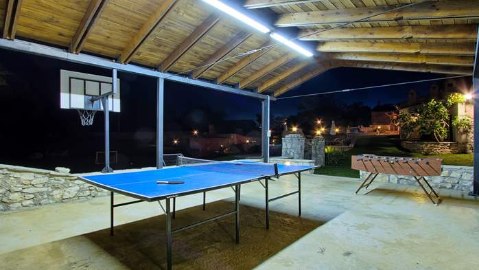 Villa with pool, terrace and playground for kids, close to Labin, 4