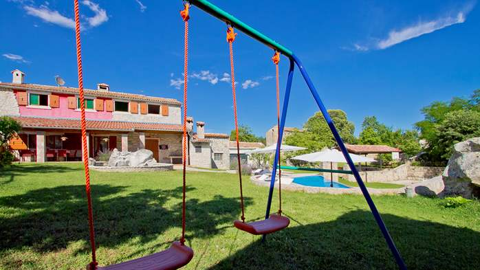 Villa with pool, terrace and playground for kids, close to Labin, 7