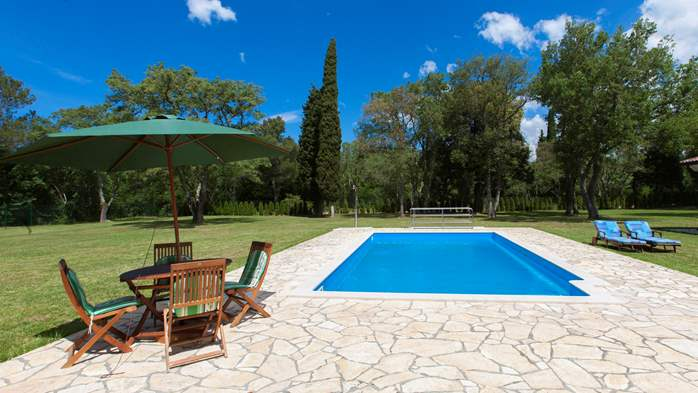 Completly fenced villa with pool, 6 bedrooms, billiards, WiFi, 4
