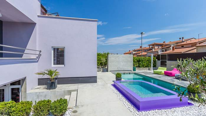 Air conditioned holiday home in Pula, with heated pool, barbecue, 1