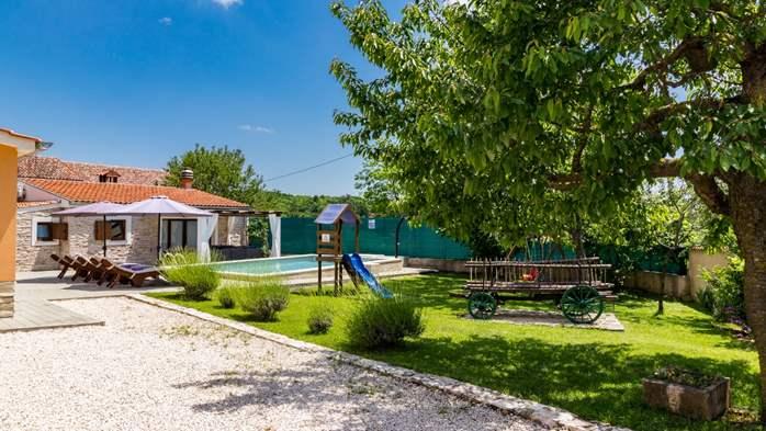 Eco friendly villa with private pool in Žminj, playground, 14