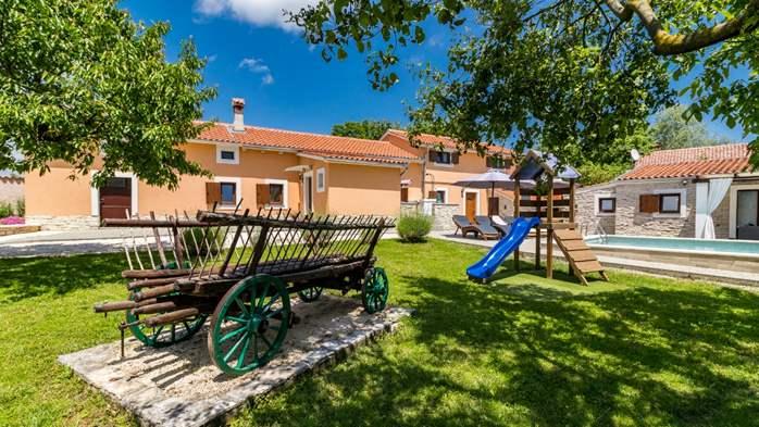 Eco friendly villa with private pool in Žminj, playground, 12