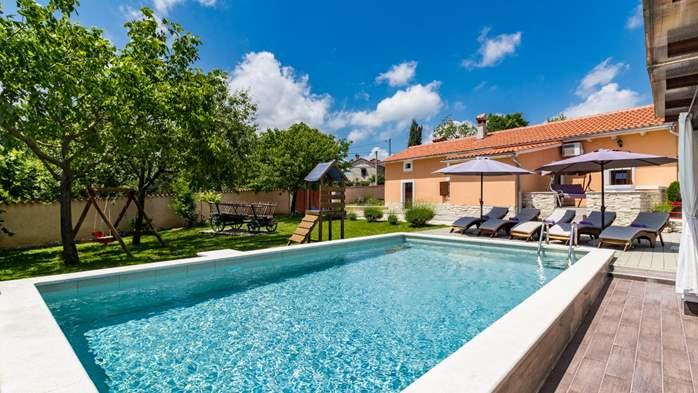 Eco friendly villa with private pool in Žminj, playground, 5