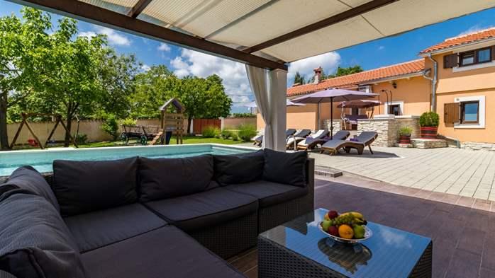 Eco friendly villa with private pool in Žminj, playground, 16