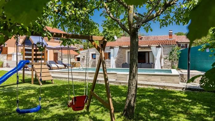 Eco friendly villa with private pool in Žminj, playground, 8
