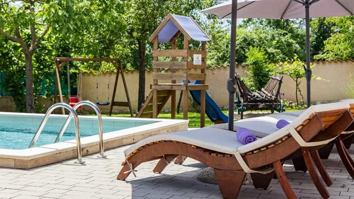 Eco friendly villa with private pool in Žminj, playground, 13