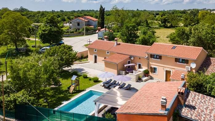 Eco friendly villa with private pool in Žminj, playground, 21
