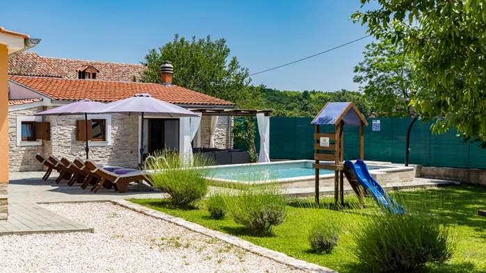 Eco friendly villa with private pool in Žminj, playground, 1