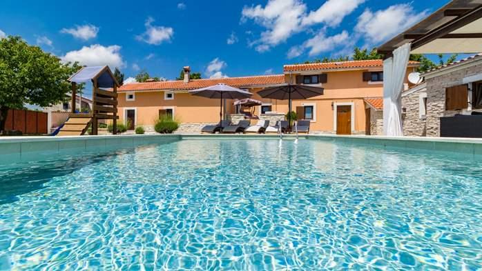 Eco friendly villa with private pool in Žminj, playground, 11