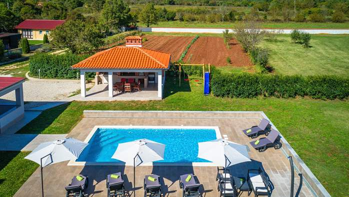 Holiday home with pool with whirlpool and playground for kids, 6