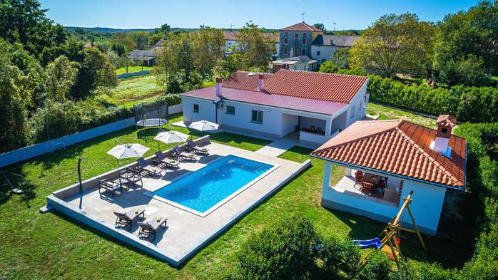 Holiday home with pool with whirlpool and playground for kids, 7