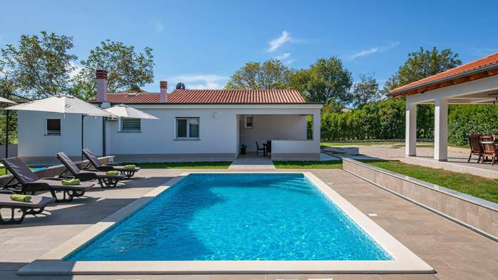 Holiday home with pool with whirlpool and playground for kids, 3