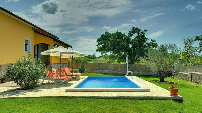 Villa with private pool, terrace, barbecue and fenced garden, 1