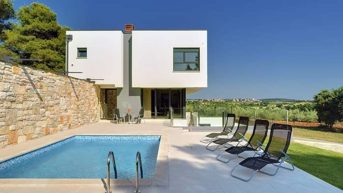 Modern villa, private pool, huge sunbathing terace, playground, 3
