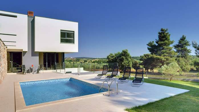 Modern villa, private pool, huge sunbathing terace, playground, 1