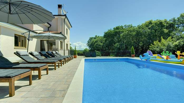 Beautiful villa on two floors with private pool, billiards, Wi-Fi, 7