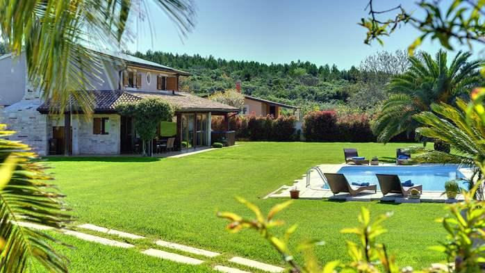 Villa in Pomer, private pool with whirlpool, big lawn, volleyball, 7