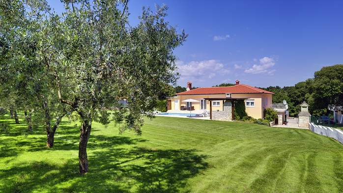 Family villa in Štinjan with heated pool, BBQ and gym room, 9