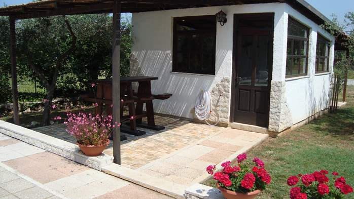Nice house in Peroj offers accommodation in cozy apartments, 26
