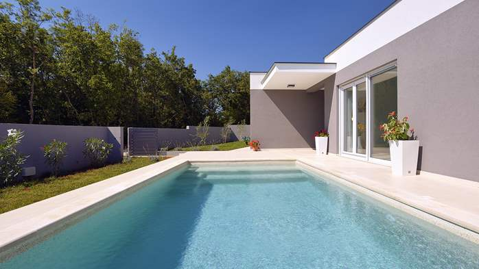 Villa with heated pool with whirpool, gym and swings, 9