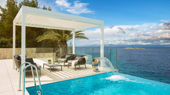 Spectacular design villa with sea-view, infinity pool, jacuzzi, 7