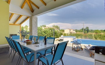 Villa in the heart of Istria with pool, terrace, sauna, gym, WiFi