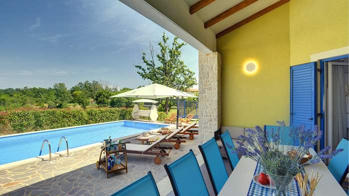 Villa in the heart of Istria with pool, terrace, sauna, gym, WiFi, 4