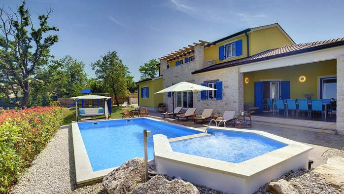 Villa in the heart of Istria with pool, terrace, sauna, gym, WiFi, 1