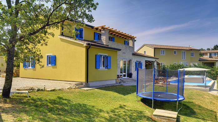 Villa in the heart of Istria with pool, terrace, sauna, gym, WiFi, 5