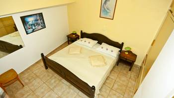 One-bedroom apartment with double bed, private balcony, pool, 2