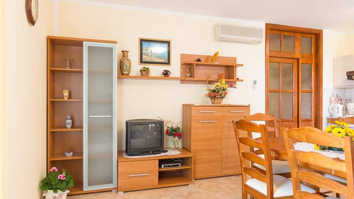 Homey air conditioned apartment, with nice covered balcony, 2