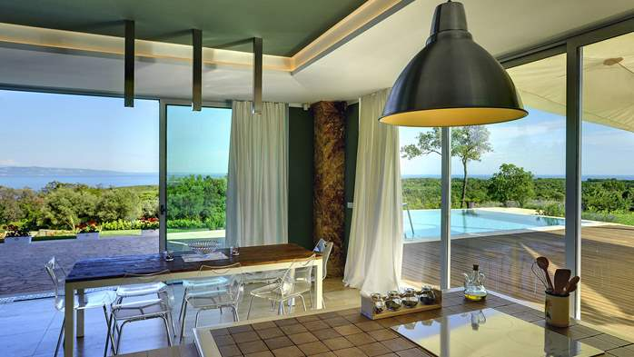 Villa with infinity pool, glass sauna,terrace and unique sea view, 31