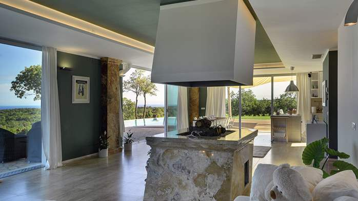 Villa with infinity pool, glass sauna,terrace and unique sea view, 34