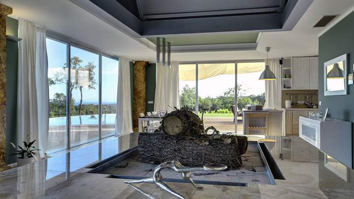 Villa with infinity pool, glass sauna,terrace and unique sea view, 44