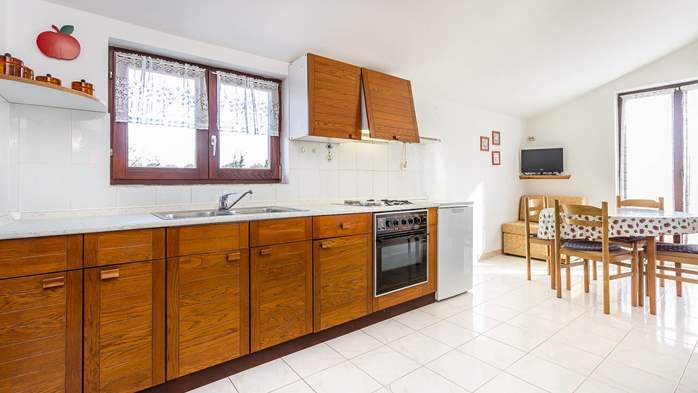 Small apartment on 2nd floor with private balcony for 3 persons, 1