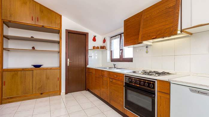 Small apartment on 2nd floor with private balcony for 3 persons, 8