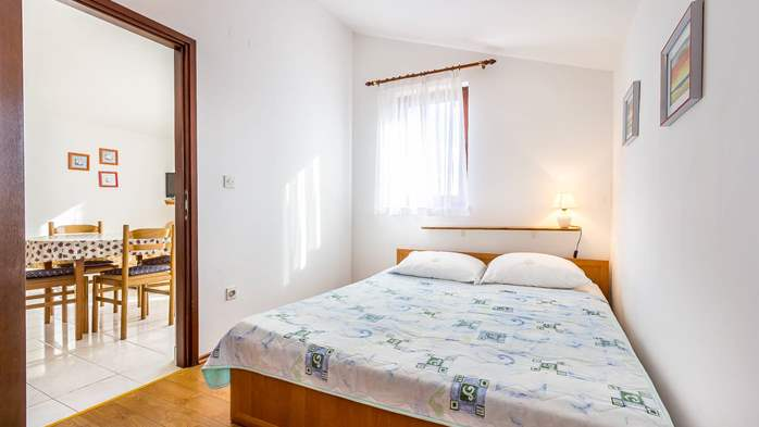 Small apartment on 2nd floor with private balcony for 3 persons, 9