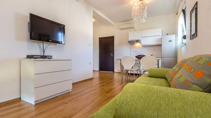 Air conditioned apartment in Štinjan with free WiFi and SAT-TV, 1