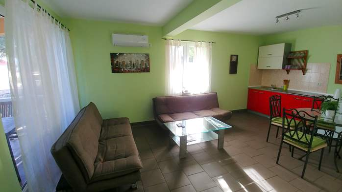 Family apartment with terrace and outdoor pool for 6 persons, 3