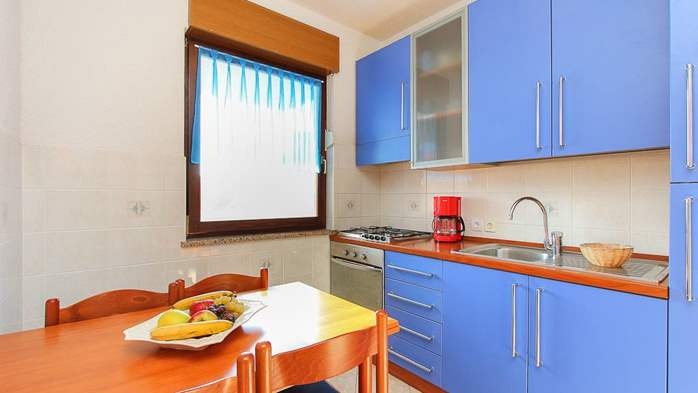 Family apartment with two bedrooms, balcony, barbecue, WiFi, 1