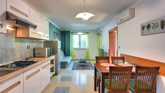 Nice, comfortable two-bedroom apartment for 4 persons, playground, 1