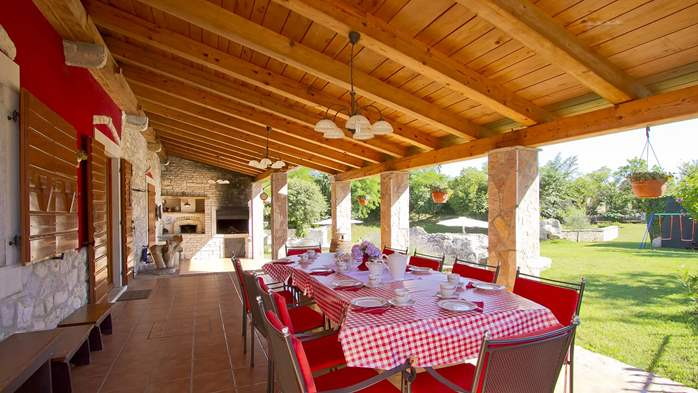 Villa with pool, terrace and playground for kids, close to Labin, 39