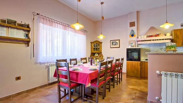 Villa with pool, terrace and playground for kids, close to Labin, 35